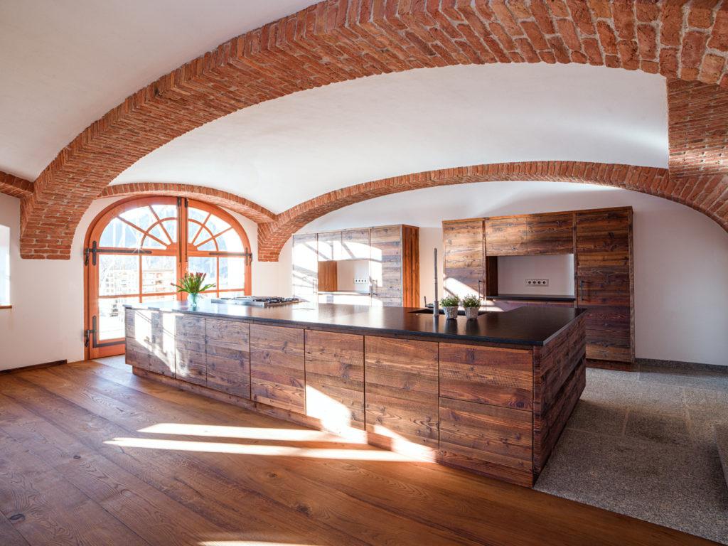 Sonnendurchflutete Küche